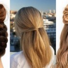 Simple hairstyle for long hair at home