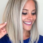 Medium blonde hairstyles 2020