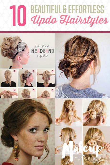 Easy updos for medium hair to do yourself