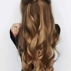 Hair style with long hair