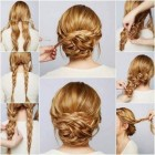 Homecoming bun hairstyles
