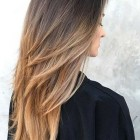 Long hair cut for women