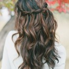 Prom hair brown