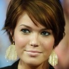 Short haircut for round face female
