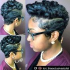 Show me short black hairstyles