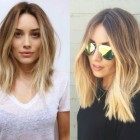 Women with shoulder length hair