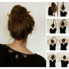 Cute easy buns for thick hair