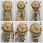 Different updos for long hair