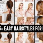 Easy hairdos for long hair