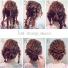 Easy updos for long thick curly hair