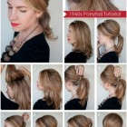 Hairstyle for medium hair at home