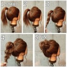 Long hair casual updos