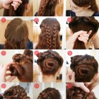 Long thick hair easy updos