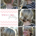 Quick and easy updos for medium hair