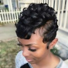 Short hairdos for black hair