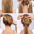 Simple daily hair style