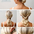 Simple hairdo for medium hair
