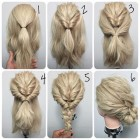 Simple updos for long thick hair