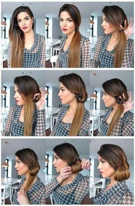 1950s updos for long hair