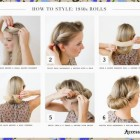 40s updos for long hair