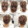 Casual updos for short curly hair