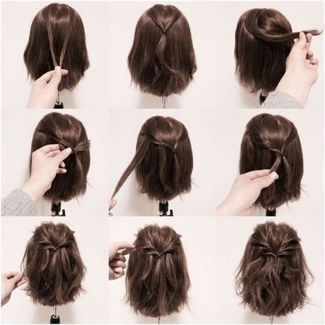 Cute half updos for short hair