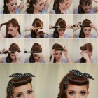 Easy 50s hairstyles for medium hair