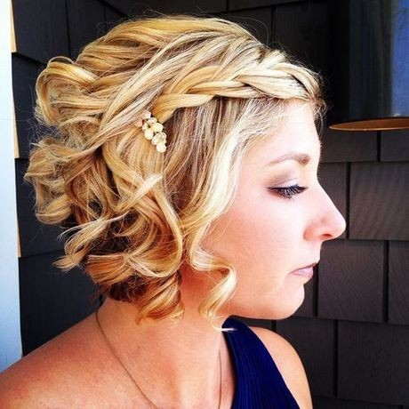 Evening hairstyles for short bob