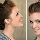 Faux hawk updo short hair