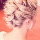 Faux updo short hair
