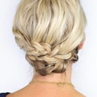 French updo for short hair