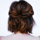 Half up half down hairstyles for bobbed hair