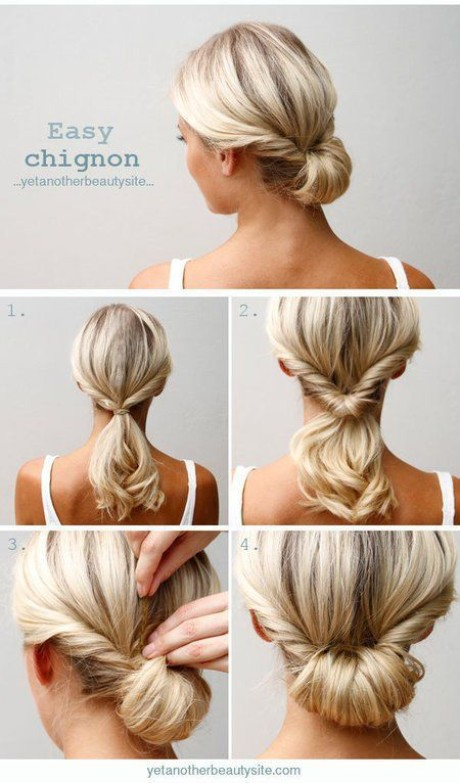 Home hairstyles for medium hair