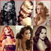 Long hair pinup styles