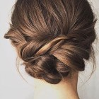 Loose updo short hair