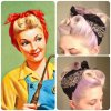 Retro pin up hair