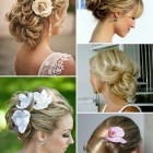 Romantic updos for short hair