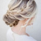 Short braided updo
