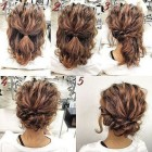 Short wavy hair updo