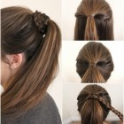 Simple and different hairstyles