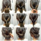 Simple and fast hairstyles