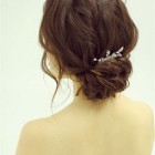 Simple bridal hairstyles for short hair