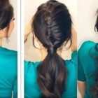 Simple hairstyle for girl at home