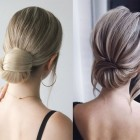 Simple hairstyle in home