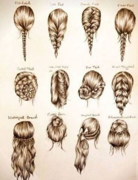 Some easy and beautiful hairstyles