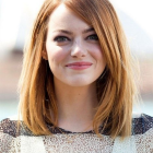 Straight hair hairstyles for round faces