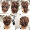 Upstyles for short hair for a wedding