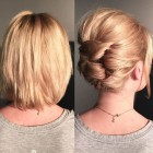 Upswept hairstyles for short hair