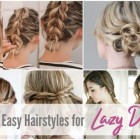 Very easy and beautiful hairstyles