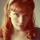 Vintage hair with bangs